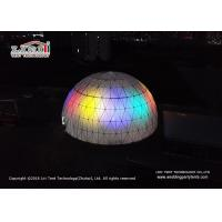 Wholesale Steel Frame PVC Lighted Geodesic Dome / Geo Shelter Dome Tent from china suppliers