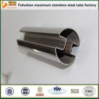 China TIG welded stainless steel square pipe 316 slotted on sale