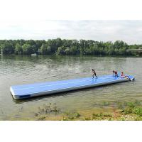 Buy cheap Long Blue Smooth Rubber Air Tight Yoga Mat , Floating Inflatable Air Track For Water from wholesalers