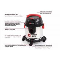 Buy cheap 15L Commercial Wet Dry Vacuum Cleaner With Stainless Steel Porter Cable from wholesalers