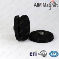 Buy cheap Strong black rubber coated ndfeb magnet from wholesalers