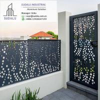 Buy cheap SUDALU Laser Cut Powder Coated Aluminum Exterior Villa Fence and Gate Panel from wholesalers