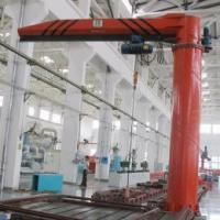 Buy cheap Single girder underslug models HY portable jib crane fixed column 2 ton foundation mounted jib crane from wholesalers