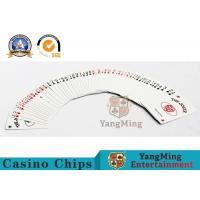 Buy cheap 0.3mm Thickness Casino Poker Cards , Jumbo Index 100% Black Core Papper Playing Cards from wholesalers