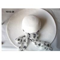 Buy cheap 57cm Ladies Packable Sun Hat For Party , 9cm Big Brim Leisure Hats from wholesalers