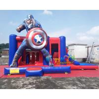 Wholesale Air Sewing Captain Amercia Moon Bounce Combo Slide Structure Gonflable Enfant from china suppliers