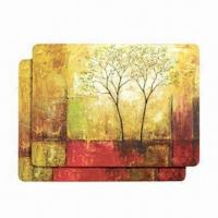 Buy cheap MDF/Cork Back Placemats, Suitable for Promotional Gift, Measures 43 x 28cm product