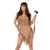 Buy cheap Fancy Fringe Sexy Native American Costume Wholesale with Size S to XXL Available from wholesalers