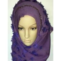 Wholesale Embroidery Silk Hijab Scarf (LC-C055) from china suppliers