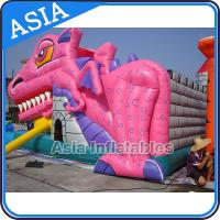 Buy cheap Lovely Inflatable Pink Snappy Dragon Bouncy Castle For Backyard Games from wholesalers