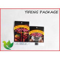 China Tobacco Zip Lock Resealable Plastic Bags Custom Printing flat bottom on sale