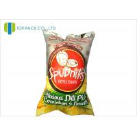 140 Micron Food Grade Printed Laminated Pouches Back Sealing Inflatable Chips Manufactures