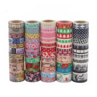 Buy cheap Cute Fabric Patterned Washi TapeStrong Adhesion Scrapbook Gift Wrapping from wholesalers