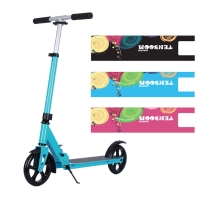 Buy cheap ODM Black Adult Kick Scooters Pneumatic Tires 220lbs Outdoor from wholesalers
