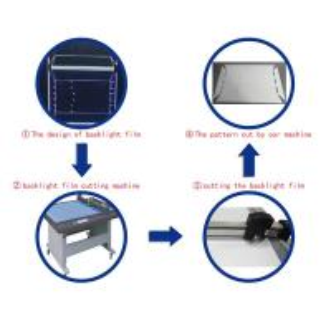 China reflect sheet/film cutter machine flatbed cutting plotter sample maker machine on sale