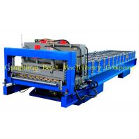 Buy cheap House Roof Glazed Tile Roll Forming Machine , Metal Roof Making Machine from wholesalers