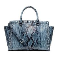 Buy cheap Cow Leather Printed Snake Lady Genuine Leather Handbag With Studs  Rhinestone , Custom Make from wholesalers