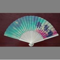 Buy cheap custom design paper folding fan with bamboo frame , perfect item for decoration, wedding or promotion from wholesalers