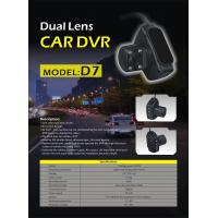 Buy cheap Dual Lens Car DVR with AV Out Function and 4LEDs for Nightvision 1.3Mega Pixels from wholesalers