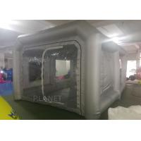 China 6x4x3m UV resistant Silver inflatable car spray booth mobile inflatable painting station for car painting on sale