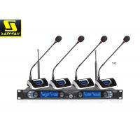 Buy cheap 8845B Four Channel Wireless Microphone System Wireless Conference Microphone Black from wholesalers