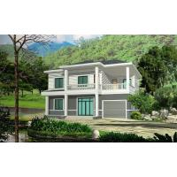Buy cheap Prefabricated Rural Villa With Light Steel Frame , Quick Assemble Prefab Modular Housing from wholesalers