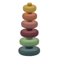 Buy cheap PVC Lead Free Silicone ODM Bath Baby Stacking Toy Rounded Edges from wholesalers