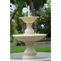 Buy cheap 2 Tier Large Size Stone Figure Statue Water Fountain from wholesalers
