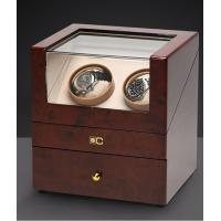 Buy cheap Dual Wooden Watch Case , Automatic Watch Winder With Soft Velvet Pillows from wholesalers