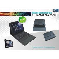 Buy cheap Wireless Silicone Folding Leather Protective Case Bluetooth Keyboard For Motorola XOOM FCC from wholesalers