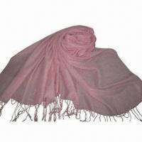 Wholesale Cashmere-like Scarf, Customized Specifications are Accepted, Measures 67x178+10x2cm from china suppliers
