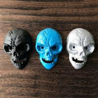 Buy cheap Cool Innovative Cast Iron Skull Head Wall-mounted Bar Beer Bottle Opener, White Blue and Black Color, Engrave Logo from wholesalers