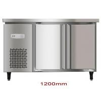 Buy cheap 200L Double Door Saving-energy Low Noise Stainless Steel Commercial Freezer, Kitchen Undercounter Refrigerator from wholesalers