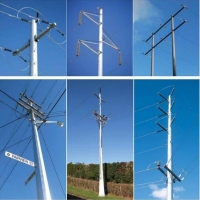 Buy cheap Galvanized Electric Power Transmission 750KV steel tubular columns from wholesalers