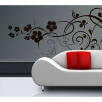 Buy cheap eco-friend silk screen multi-color flower wall sticker for kids with CE from wholesalers