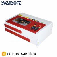 Buy cheap SWANSOFT mini lazer engraver, small mini co2 40W laser rubber stamp engraving machine 3020 from wholesalers
