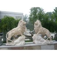 wholesales nature stone lions/ travertine sculpture Manufactures