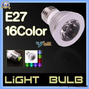 Wholesale E27 3W 85V-265V 16-Color Remote Control LED Light Bulb -E02456 from china suppliers