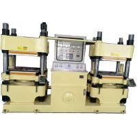 Buy cheap Double Work Station Rubber Brake Pad Making Machine 4000KN Clamp Force Hydraulic Hot Press Machine from wholesalers