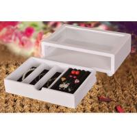 Buy cheap Cute White Wooden Jewelry Organizer Box, Customized Jewelry Gift Boxes from wholesalers