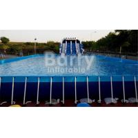 Buy cheap Outdoor Durable 0.9mm PVC Tarpaulin Metal Frame Swimming Pool For Water Park from wholesalers