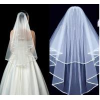 Wholesale Milk white bridal veil spot manufacturer sells a new style of hair, bridal veil, wedding dress, 3pcs sales from china suppliers