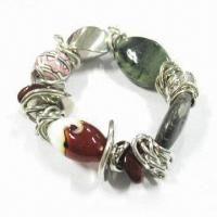 Buy cheap Bracelet with Gold or Nickel Plated, Available in Various Designs, Made of CCB and Resin Beads from wholesalers