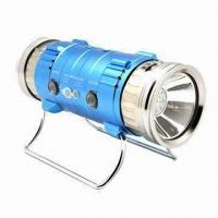 Buy cheap Double-head Night Fishing Lamp with 2 x 3W Main LED Bulb and White/Blue Beam Colors from wholesalers