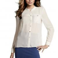 Buy cheap Button Up Womens Shirts Blouses , Long Sleeve v-Neck Shirt from wholesalers