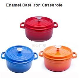 Cast Iron Enameled Cookware/Enamel Cast Iron Casserole/Round Enamel Pots