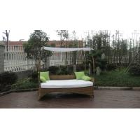 Buy cheap Brown Roofed Outdoor Swimming Pool Wicker Daybed With Long Pillow from wholesalers