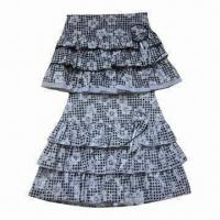 Buy cheap Girls' Skirt, Made of 100% Cotton Poplin with AOP, Sized 2 to 12-year from wholesalers