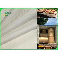 Buy cheap 70gsm 120gsm Food Grade Uncoated White Bleached Kraft Paper FDA EU SGS Certified from wholesalers