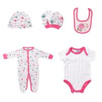 Buy cheap 5PCS / Set Footed Rompers Baby 100 Cotton Baby Clothes Gift Set With Hat from wholesalers